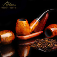 Wood Bent Type  Smoking pipe briar tobacco smoking pipe handmade smoking adous 8 piece set a stone 535