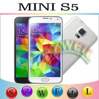 No Brand gsm phones unlocked - 4 Inch S5 I9600 Cell Phones Quad Band Dual Sim Dual Camera GSM Unlocked Phone Free Case