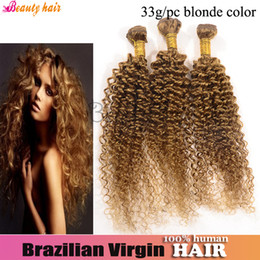 Wholesale Brazilian Hair Afro Kinky Curly Virgin Hair Blonde Pink Blue g Bundles New Beauty True Highlight Color Top Quality Hair Product