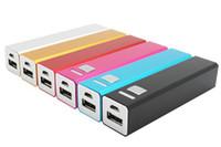 achat en gros de mini-batterie universel-Powerbank 2600mAh Universal Rectangle mini style concis de sauvegarde externe portable Batterie Power Bank Chargeur Pack pour tous les téléphones mobiles