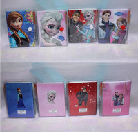 Wholesale 2014Frozen Frozen Princess Elsa Anna Hans Kristoff Diary Note Book Writing Books Ice Snow Queen Stationery Gum CoverPaper Products
