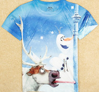 Hot 2014 new fashion Frozen Olaf 3D printed children girls t...
