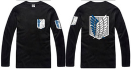 Free shipping 2016 new arrive japanese anime Attack on Titan Scouting Legion Wings Of Freedom Badge printed t shirt 100% cotton 6 color