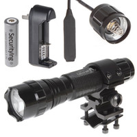 Wholesale 2pcs Lm CREE XML T6 Mode LED Flashlight Torch Flash Light Remote Pressure Switch Ring Bracket x Battery LEF_259