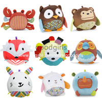Wholesale 5 SKP baby soft Stuffed toy Styles Baby toy plush Animals toys early development toy SKPPD0010