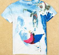 2014 new fashion Frozen Anna & Olaf 3D printed children ...