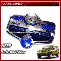 jeep wrangler - Snowman Arctic Metal emblem Sticker Jeep Wrangler Compass Grand Cherokee Decoration logo badge refit accessories