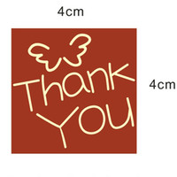 Paper Not Accept Food thank you stickers 4.0cm Red kraft paper, envelope seals, stickers