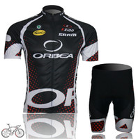 Wholesale Orbea Bike Wear Short Sleeve Pro Cycling Jerseys Set Summer Outdoor Black Ultra Breathable Riding Clothing High Quality Bicycle Skinsuit