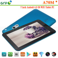 Under $100 Generic 7 inch China Cheap Android Tablet PC 7 Inch A70M VIA8880 ARM Dual Core 1.5GHz 512M RAM 4GB Capacitive Touch Screen With Dual Camera WIFI HDMI