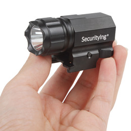 Wholesale Securitylng P05 Lumens CREE XP G R5 LED Tactical Gun Flashlight Torch Modes LED Flash Light Lanterna with Mount LEF_SH0