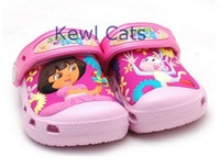 Wholesale new fasion cute cartoon Droa Clog garden shoe for children sandals slippers girls flat