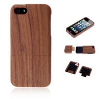 In Legno naturale, Noce Vintage Retrò in Stile Hard Cover Posteriore del Telefono Caso di Shell per iPhone 5 5s PA1634
