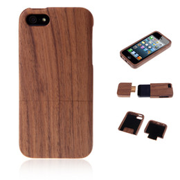 Wholesale Natural Wood Walnut Vintage Retro Style Hard Back Cover Phone Case Shell for iPhone s PA1634