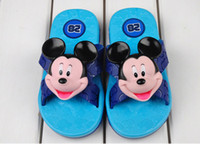 Wholesale Original Coqui Kids Sandals Mickey Minnie Mouse Cartoon Boys Girls Slippers Children Unisex Summer Slipper Shoes
