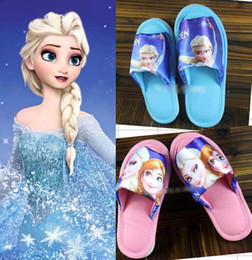 9%off!IN STOCK!Fashion!Snow adventure! Frozen elsa anna princess home shoes! Child yards slippers!DROP SHIPPING!high quality!1pairs 2pcs.MC
