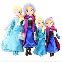 Wholesale Frozen plush New cm Princess Elsa Plush Anna Plush Doll Brinquedos Kids Dolls