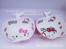 Wholesale Exported to Japan hello kitty cat face Melamine Melamine soup bowl small bowl double thick