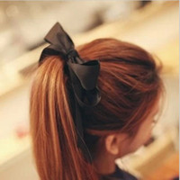Hair Rubber Bands Asian & East Indian Women's The new han edition hair Lady and lovely Double satin bow hair bands rope accessories wholesale