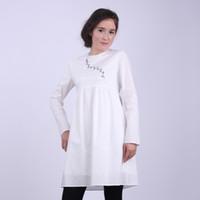 Wholesale Muslim Women Korean Super Meng embroidered cotton dress shirt Palestinian Arab Islamic nation clothing W588