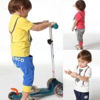 Unisex Spring / Autumn Woven 1PCS Baby Boy Kid Cool Tie Print Short Sleeve T-shirt Top+Pant Suit Outfit Clothes