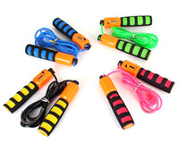Wholesale Mixed colors m Handle Skipping Jump Rope with Counter Number for Exercise Workout