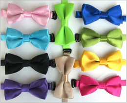 Wholesale 2014 Colorful Children Boys Girls Lovely Party Bowtie Kids Perfomance Neck Tie Childs Bright Solid Ties H0891