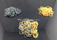 Wholesale Rainbow Loom Rubber Belt kinds of gold silver metallic color S DIY Bracelets Loom Rainbow Rubber belt