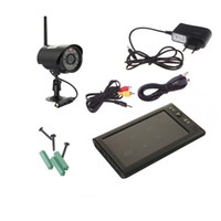 Wholesale CCTV Digital Wireless DVR Security System with Inch LCD Monitor SD Card Recording and Long Range Night Vision Cameras S239