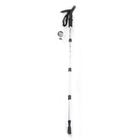 Trekking Poles   Wholesale-Hiking Trekking AntiShock Walking Stick Pole Retractable Adjustable Compass +LED