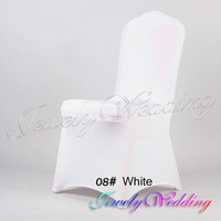 Wedding Chair Spandex / Polyester White Free Shipping Hot sale 6 pcs White Folding Spandex Stretch Chair Covers Thick Enlarge Banquet Wedding