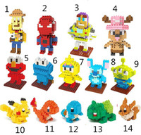 Wholesale WEAGLE Creative Mini Small particles blocks toys Stitch spiderman woody Chopper Sesame Street dimond brick sets