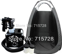 Wholesale Spray tanning machine and pop up tent black set