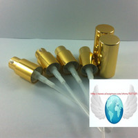 Metal   wholesale,shiny gold aluminum lotion pump cap,could match with 5ml\10ml\15ml\20ml\30ml\50ml\100ml lotion bottle or cream bottle