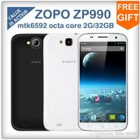 Wholesale Big Discount ZOPO ZP990 MTK6592 Octa Core android Dual Sim GHz G RAM GB ROM inch FHD Screen MP WCDMA G OTA OTG Cell phone