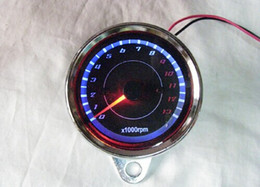 Wholesale Tachometer Tach Gauge with Holder Cup for Auto Car RPM LED colorful Light