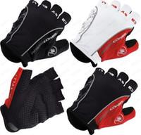 Castelli Rosso Corsa Men's Motorcycle Gloves Fingerless Moto...
