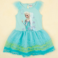 Hot Frozen Dress Elsa & Anna Summer Dress For Girl 2014 ...
