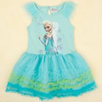 Hot Frozen Dress Elsa & Anna Summer Dress For Girl 2014 ...