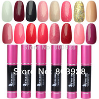 Wholesale 2014 New Hot Goden Product color Nail Art ml Soak Off Gel Polish kit shellac UV nail gel polish set