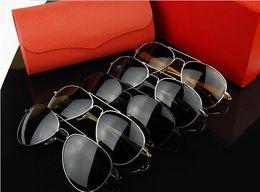 Wholesale Wayfarer sunglasses Brand designer leopard head Coating Polarized sunglasses Anti UV men s glasses riding Driving Mirror sun glasses