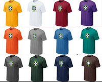 Soccer world cup soccer t-shirts - 2014 World Cup T Shirts Brasil Soccer Shirts Brazilian World Cup Soccer Wears Brand Soccer Jerseys High Quality Cheap Sports Tee Shirts