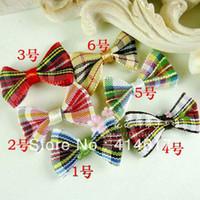 Other tartan plaid ribbon - 40 Tartan plaid Ribbon Bows Flowers Wedding Appliques craft
