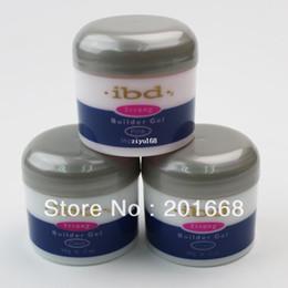 Wholesale 3 color IBD Builder Gel oz g Strong UV Gel Pink Clear White for nail art false tips extension NA394