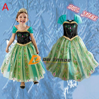 TuTu Summer A-Line DHL Free 2014 hot sale girls Elsa Anna frozen princess dress children kids cosplay costume dresses cheap party clothes girl gift J062002#