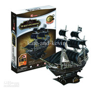Wholesale new Pirates Caribbean ship Queen Revenge Black Pearl Music Cube D puzzle model hand made self