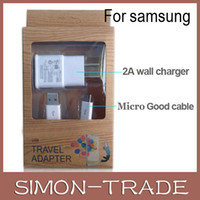 Wholesale Samsung in Kits Wall Charger A Home Charger Adapter N USB Cable Cord for Samsung Galaxy S3 S4 i9500 i9300 Note N7100