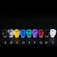 Wholesale Colorful Acrylic Drip Tips Wide Bore Drip Tip EGO Atomizer Mouthpieces for CE4 CE5 CE6 Protank EVOD EGO T electronic cigarette Atomizer