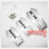 Wholesale MOMO Atomic Non Slip Alloy Racing Sport Pedal Pad Cover Set for Manual Colors