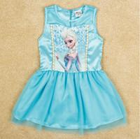 Fashion New Girls Frozen Dress Children Frozen Princess Elsa...